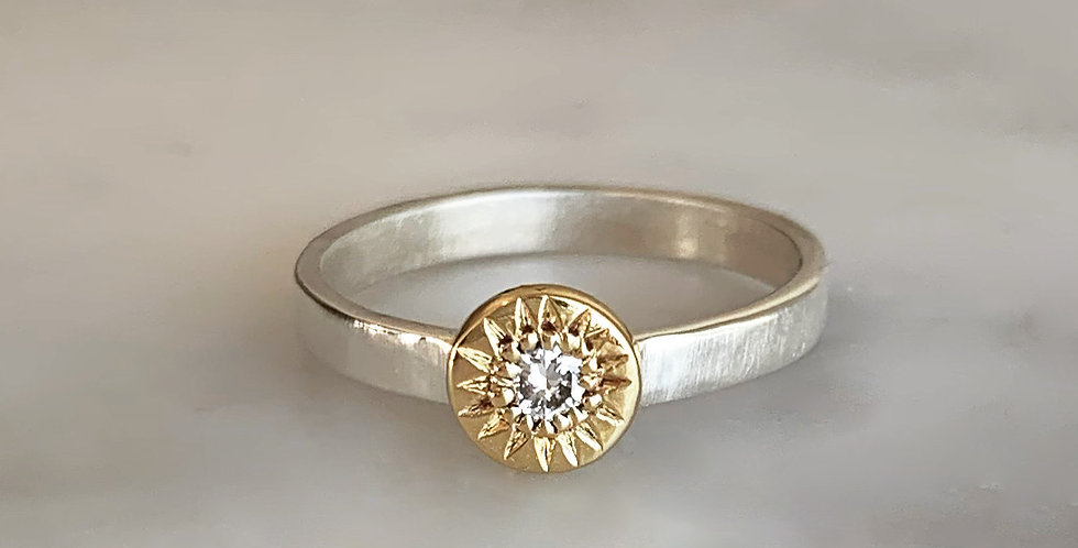 SUNFLOWER STACKING RING