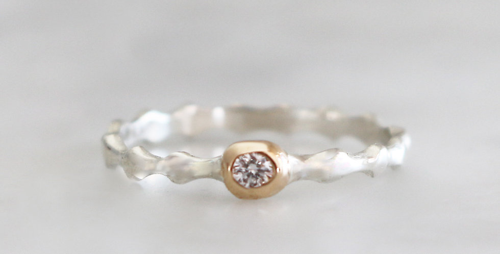RIVER RING IN MIXED METALS