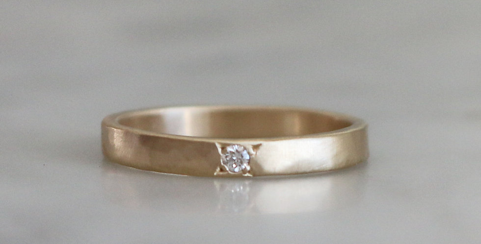 STAR SET TINY DIAMOND SOLITAIRE IN GOLD