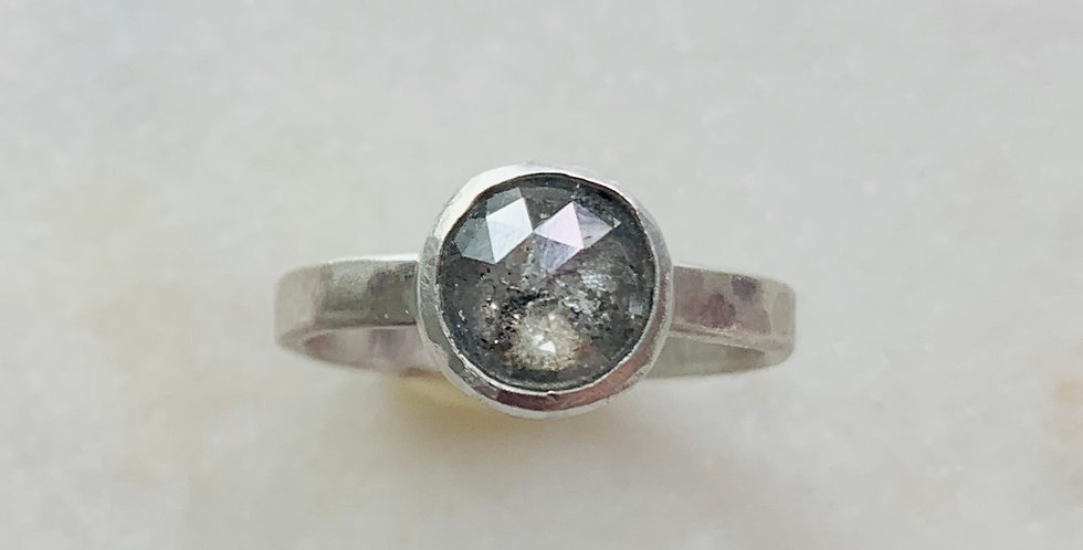 RUSTIC GREY DIAMOND RING (CUSTOM)