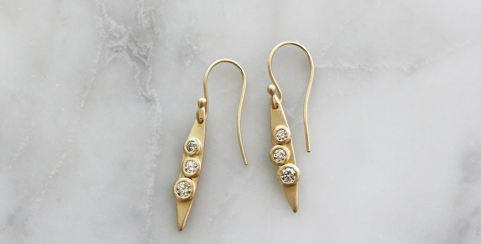 TRILOGY EARRINGS IN GOLD