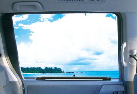 ロールフィットスクリーンプラス窓装着_収納時