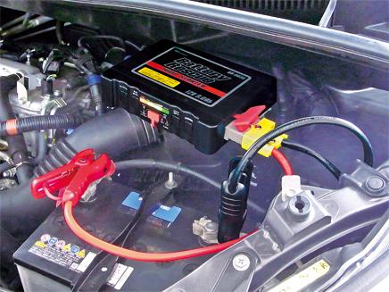 バッテリーレスキュージャンプスターター_BR-003S車両取付イメージ