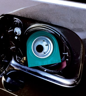 G-signalミニ 緑_給油口装着イメージ