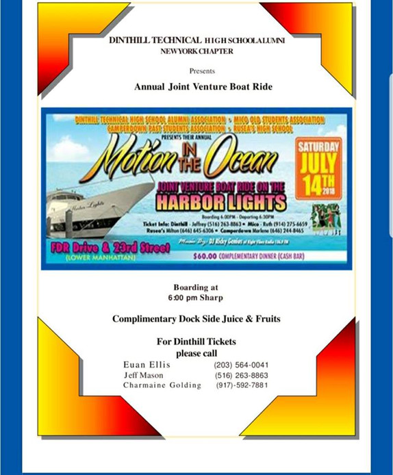 Annual Boatride is Saturday July 14th
