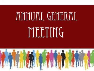ANNUAL GENERAL MEETING IS SATURDAY FEBRUARY 10TH 2018