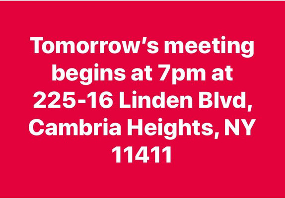 November Regular Meeting Saturday 10th