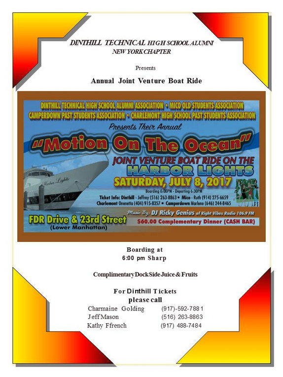 DINTHILL  NY CHAPTER 2017 ANNUAL BOATRIDE IS SATURDAY JULY 8TH!