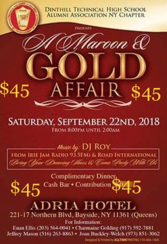 MAROON AND GOLD AFFAIR!