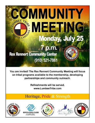 Community Meeting; July 25th