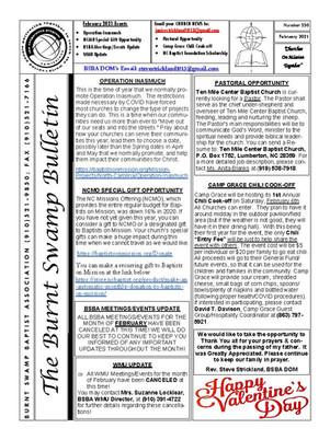 February 2021 Newsletter | Missions Newsletter