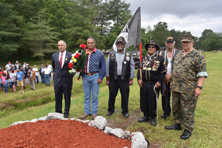 Lumbee Tribe's Inaugural Memorial Day ceremony at the Cultural Center