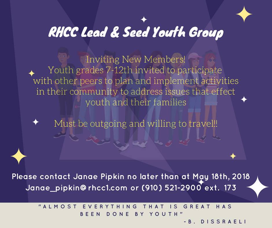 RHCC Lead and Seed Youth Group | rhcc