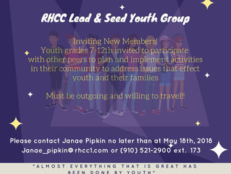 RHCC Lead and Seed Youth Group