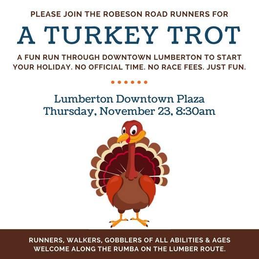 A Turkey Trot November 23rd 8:30am