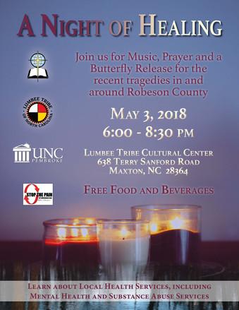 A Night of Healing:  May 3, 2018