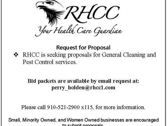 RFP for General Cleaning and Cleaning Pest Control Service