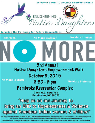 3rd Annual Native Daughters Empowerment Walk set for October 8