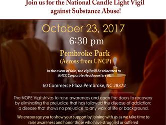 RHCC Candle light Vigil:  October 23, 2017