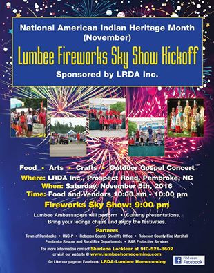 Lumbee Fireworks Sky Show Kickoff