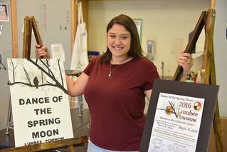 Michela Bullard; Purnell Swett student's artwork selected as Lumbee Tribe's powwow logo
