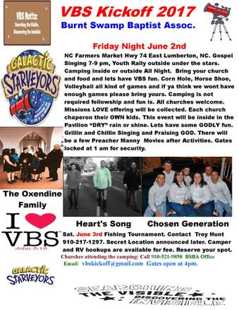 VBS Kickoff-June 2, 2017