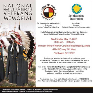 National Native American Veterans Memorial Program
