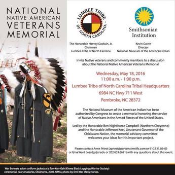 National Native American Veterans Memorial Program