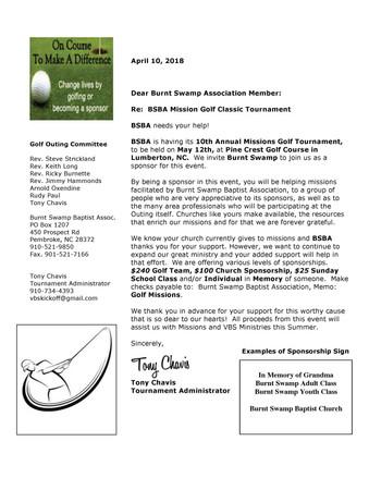 BSBA Mission Golf Classic Tournament