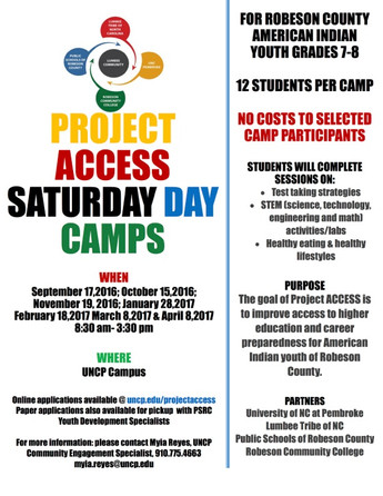 PROJECT ACCESS SATURDAY CAMPS