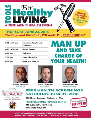 Tools For Healthy Living-Free Men's Health Event