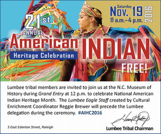 National American Indian Heritage Month.