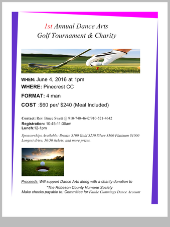 1st Annual Dance Arts Golf Tournament & Charity