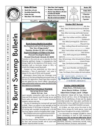 October 2017 Newsletter