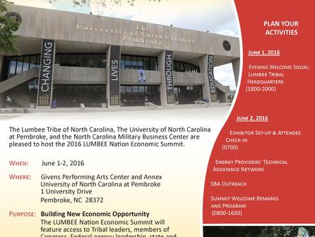 2016 Lumbee Nation Economic Summit