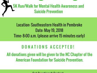 Breaking the Stigma- 5K Run/Walk       May 19, 2018