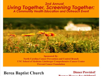 2nd Annual Living Together, Screening Together: A Community Education and Health Outreach Event