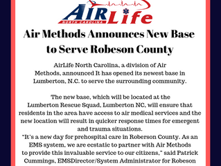 Air Methods Announces New Base to Serve Robeson County