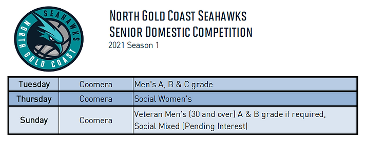 2021 SEASON 1 - Senior Domestic Competit