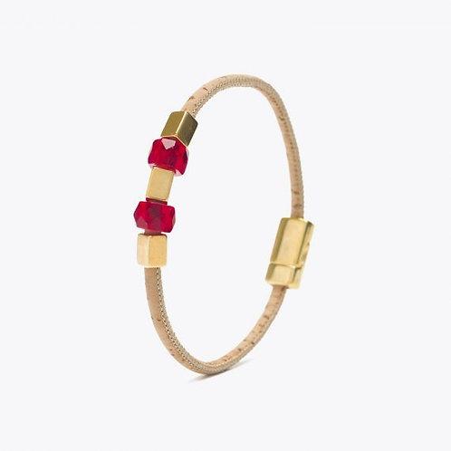 Bracelet perles rouge