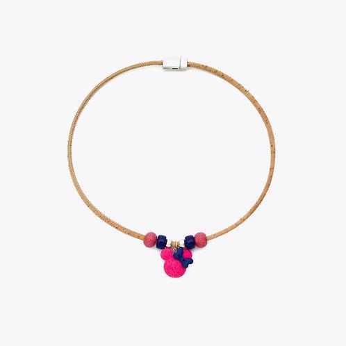 Collier mimi rose et bleu