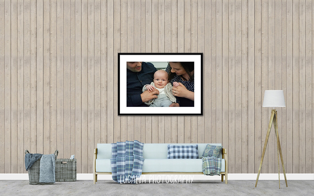 framed family photo above lounge, Mount Holdsworth, Wairarapa family photographer