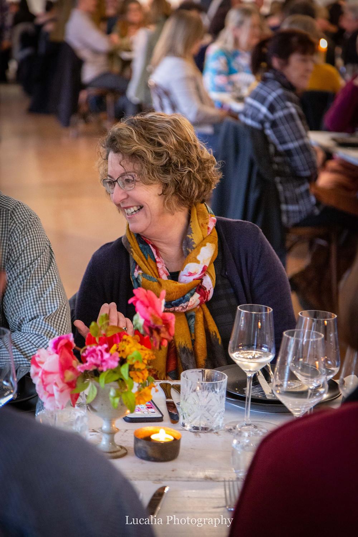 lady talking and smiling at Rose & Smith at Tauherenikau Wairarapa wedding venue