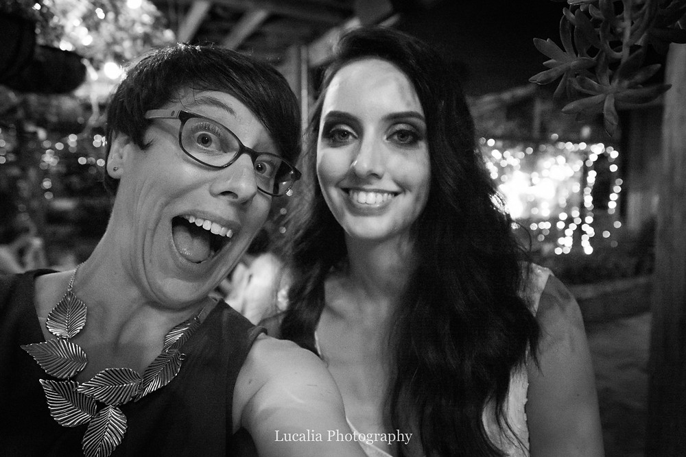 wedding photographer selfie with bride, Wairarapa wedding photographer