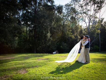 The elegant, relaxed backyard wedding of Danielle and Adam