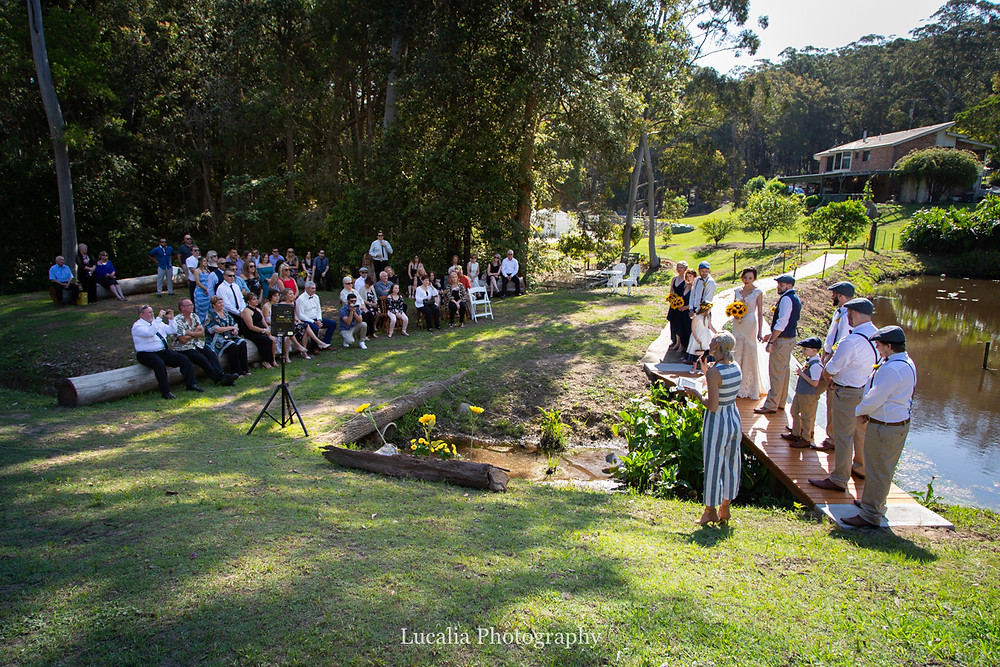outdoor wedding ceremony, Wairarapa wedding photographer