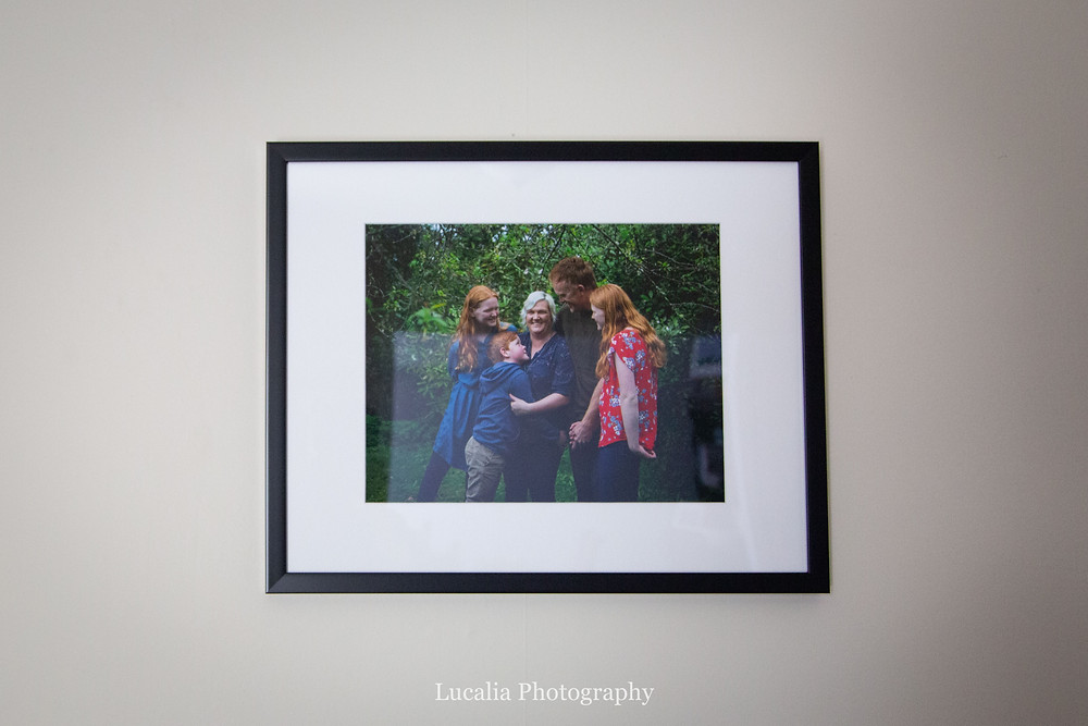 framed family photo on the wall, Wairarapa family photographer