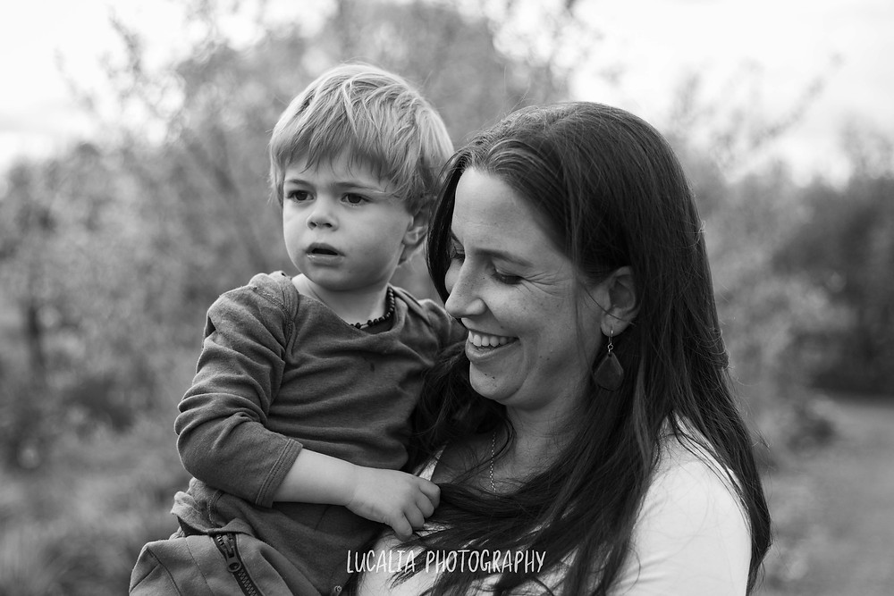 pregnant mum and her son outside, Wairarapa maternity photographer