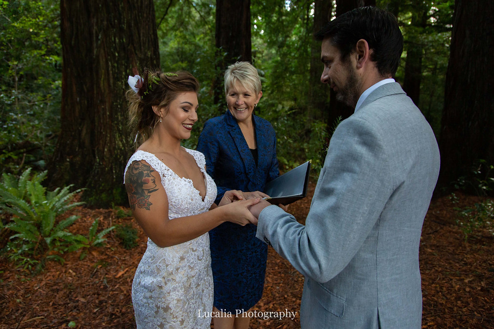 Wendy Morrison wedding celebrant at Pukaha National Wildlife Centre wedding venue, Wairarapa wedding photographer