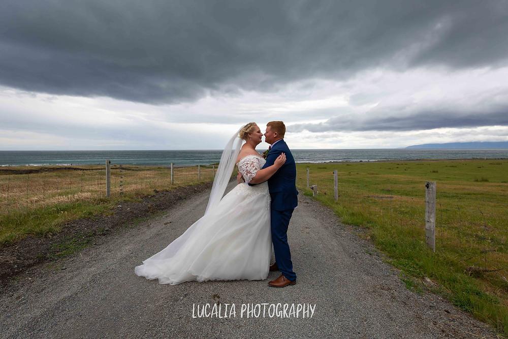 bride and groom portrait Waimeha Camping Village Ngawi, Wairarapa wedding photographer